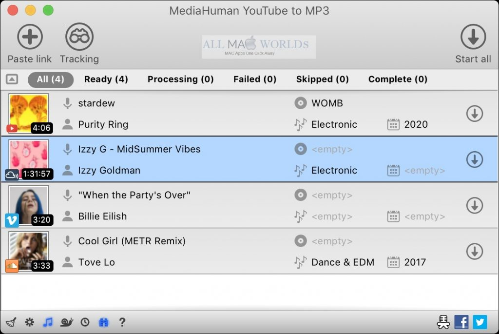 MediaHuman YouTube to MP3 Converter 3 for Mac Free Download