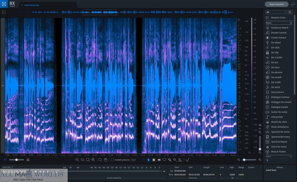 iZotope RX 8 Advanced 8 for macOS Free Download